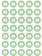 Boys Birthday Stickers 37mm Round Paper - Thank You For Coming To My Party